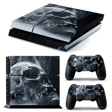 PS4 PlayStation 4 Skin Stickers PVC for Console & 2 Pads ***Burning Skull PP