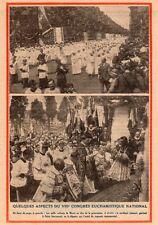 LILLE CONGRES EUCHARISTIQUE CARDINAL LIENART PROCESSION IMAGE 1932 OLD PRINT