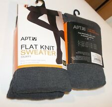 "APT 9 Gray ""FLAT Knit SWEATER Knit"" TIGHTS Hose Sz MEDIUM"