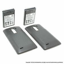 2 x 6800mAh Extended Battery for LG G3 D830 D851 Black Cover