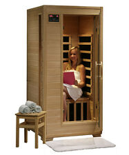 HeatWave Buena Vista - 1 Person FAR Infrared Sauna w/ Ceramic Heaters (SA2400)