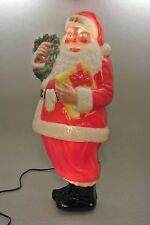 "Vtg NOMA 1951 Plastic 30"" Christmas Santa Light-up Molded Display Figure w/Box"