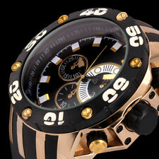 Fashion Men's XXL Gold Oversized Black Sport Army Analog Sport Wrist Watch