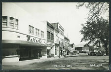 Sharp OR Ashland RPPC 1950's STREET Weitzel's PLAZA CAFE Grocery by Laws No. A25