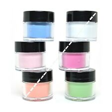 LOT 6 MIA SECRET NAIL ART ACRYLIC POWDER NEON GLOW IN THE DARK  6GLOWPOWDER-MIA