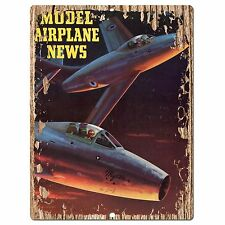 PP0333 Vintage Model Airplane News Poster Plate Sign Store Home Restaurant Decor