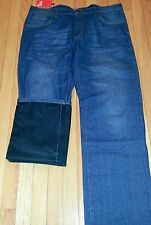 MEN SLIM FIT BLUE FLEECE LINED JEANS -SIZES 28 TO 38-INSEAM 32""