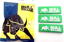 1 x Bull Brand Standard 8mm Filter 100 Tips & 3 x BullBrand Cig Rolling Papers