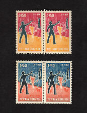 1964 South Vietnam 4 Stamps 10th Anniversary of Geneva Accord 1954 MNH