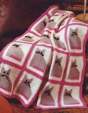 Cute Kitty Cat Afghan Throw Blanket Crochet Pattern