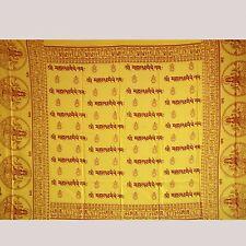 LAKSHMI OM -Mantra-Tuch Lunghi-Schal Sarong Indien Dekotuch goa Hippie 47