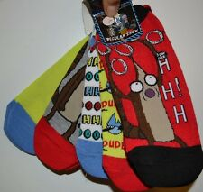 5 Pairs of No Show Socks Regular Show Rigby Mordecai DUDE HO HO! Size 9-11