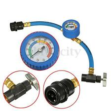 R-134a Recharge Measuring A/C Car Conditioning Gauge Refrigerant Hose & Can Tap