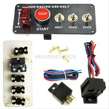 12V Ignition Switch Panel Engine Start Push Button LED Toggle for Racing Car gr#