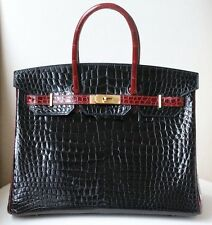 HERMES 35CM SPECIAL EDITION BICOLOUR POROSUS BRUSHED GOLD H/W BIRKIN BAG