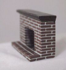 Half Scale 1/24 G -  Brick Fireplace YM0219  dollhouse miniature cast resin