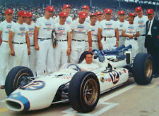 1965 MARIO ANDRETTI AT INDY 500 Official Photograph MOBIL RACING TEAM #12