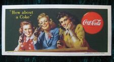 1944 Coca Cola Card Blotter Advertising Very Sharp Colors Vintage