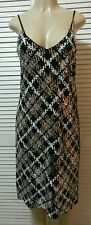 NEW Michael Kors Black/Silver/White Embellished Houndstooth Sequins Dress Size M