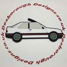 Peugeot 309 Gti fridge magnets , White Goodwood Wheels