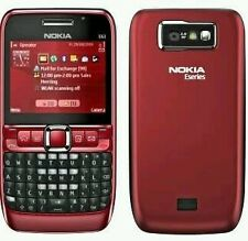 New Nokia E63 Qwerty keypad Wifi phone with box & Accessories - Red!