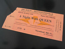 QUEEN  :  Original 1979 ' Live Killers ' Ticket Stub - Berlin Concert - Germany