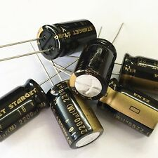 100x 2200uF 16V 12.5x20mm ELNA STARGET HiFi Audio Grade Capacitor MADE IN JAPAN
