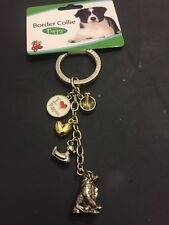 Brand New Dog Keyring Border Collie Puppy Gift Present Animal Lover