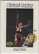 1999-00 UPPER DECK RETRO DISTANT REPLAY: JERRY WEST #D8 LA LAKERS/NBA LOGO HOF