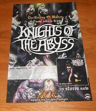 Knights of the Abyss The Culling of Wolves Poster Original Promo 17x11