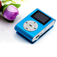 Mini USB Clip Digital MP3 Player LCD Screen Support 32GB Micro SD TF Card Blue