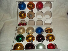 Vtg. Mixed Lot 19 Christmas Ornaments, U.S.A./Poland/ShinyBrite/Rauch