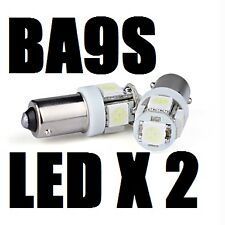 2 X BA9S XENON WHITE LED Parking Number Plate Miniature Bayonet Light Bulb