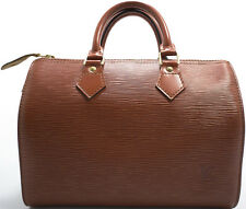 Louis Vuitton EPI Speedy 25 Tasche Bag Zeitlos Boston Elegant Brown Brun Braun