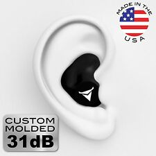 Decibullz Custom Molded Earplugs NRR 31 - Black