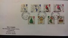 Set of very fine used 2016 GB Christmas stamps on envelope