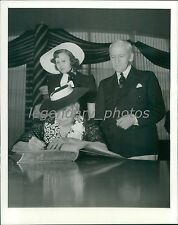 1939 Mrs. Henry Blood Signs Registry at World's Fair Original News Service Photo