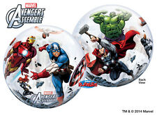 "NEW Marvel Avengers 22"" Qualatex BUBBLE Balloons Birthday Party Supplies~"