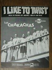 PARTITION MUSICALE BELGE LES CHAKACHAS I LIKE TO TWIST