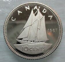 1987 CANADA 10 CENTS PROOF DIME COIN