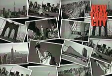 Many Black & White Pictures of New York City, Statue of Liberty etc. -- Postcard