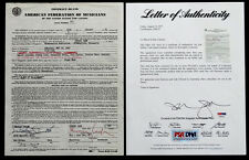 1964 Original JOHNNY CASH Signed Autograph on CONCERT CONTRACT / PSA/DNA COA
