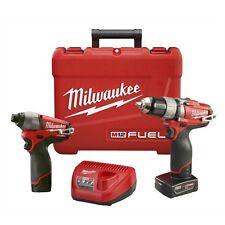 "Milwaukee 2594-22 M12 FUEL Drill / Driver and 1/4"" Hex Bit Impact Combo Kit"