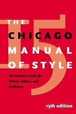The Chicago Manual of Style by University of Chicago Press Staff