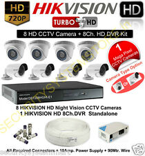 HIKVISION HD Turbo 1MP 8 CCTV Camera and 8Ch. HD DVR Kit