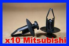 10 MITSUBISHI NISSAN AUTO PLASTICA FISSAGGIO BORDO FISSAGGIO GANCETTI 27g