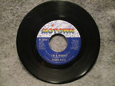 """45 RPM 7"""" Record Diana Ross I'm A Winner & Surrender 1971 Motown Records M 1188F"""
