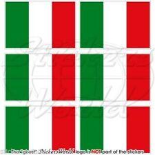 ITALIEN Drapeau ITALIE Cellule Téléphone Autocollants 40mm x6