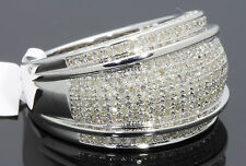 1.32 CARAT 100% GENUINE DIAMONDS MENS WHITE GOLD FINISH ENGAGEMENT PINKY RING
