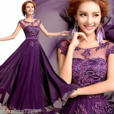 Beautiful New Long Chiffon Bridesmaid Evening Formal Party Ball Gown Prom Dress)